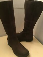 Timberland women brown suede knee high boots Size 6 wide
