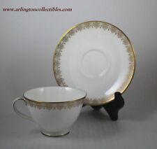 ROYAL DOULTON ☆ GOLD LACE ☆ Footed Tea Coffee Cup & Saucer Set ☆ 12 AVAILABLE