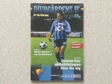 Djurgardens IF v IF Elfsborg Football Programme 2 July 2008 Sweden Allsvenskan