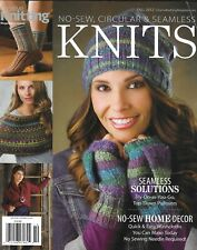 Creative Knitting Magazine Seamless Projects Pullovers No Sew Home Decor 2012