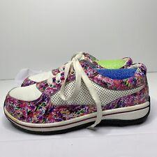 Alegria Cindi Pink Swirl Nursing Sneakers Slip Resistant Womens Size 39 US 8.5