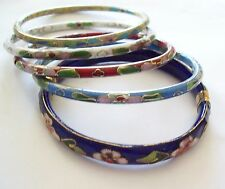5 Vintage Cloisonne Bangle Bracelets