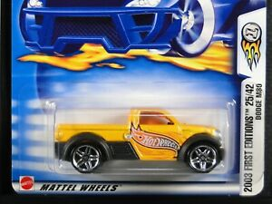 DODGE M80 , Hot Wheels 2003 First Edition 25/42. Yellow-Orange, PR5 wheels, NEW
