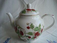 "Lovely Roy Kirkham ""Raspberry"" Pattern Bone China Tea Pot - slight AF"