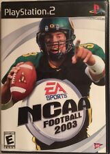NCAA Football 2003 (Sony PlayStation 2, 2002) EA Sports Black Label Complete