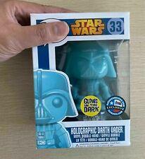 Funko POP! STAR WARS #33 Holographic Darth Vader GLOW Version Action Figures