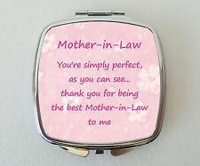 MOTHER IN LAW Compact Mirror Handbag Cosmetic Makeup Novelty Mothers Day Gift