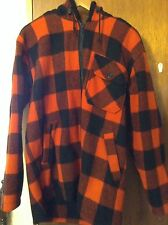 Feathertop Outdoor Clothing Men's Red Hoodie Jacket Size Small Made in Australia
