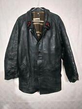 ancienne veste pompier   homme cuir belle qualité  / B 273