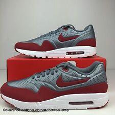 Nike AIR MAX 1 ULTRA MOIRE Scarpe Da Ginnastica Uomo Casual Grigio Rosso Tg UK 12 RRP £ 130