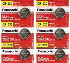Brand New 6 Pcs Panasonic CR1620 ECR 1620 CR 1620 3V Lithium Batteries
