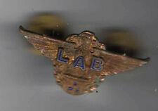 old mini cap badge Flight Engineer THIRD Officer WINGS