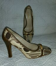 Franco barbieri brown, beige pumps sz 9 made in Italy, excellent condition!