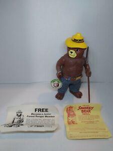 Vintage DAKIN Official Smokey The Bear Forest Fire Prevention Figure & paperwork