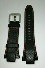 Genuine Leather Seiko Watch Strap 4KG8JZ for SNL017 SNL021 7L22-0AD0 Red/ Black
