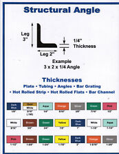 "3 x 3 x 3/16"" Steel angle iron mild steel  1 piece 48"" UPS Shipping A36"