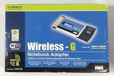 Linksys WPC54G Ver. 1.2 Wireless-G 2.4GHz 802.11g  PCMCIA Notebook Adapter Card