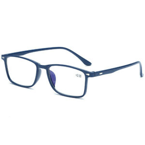 Mens Womens Reading Glasses Rectangular Light Weight 1.0 1.5 2.0 2.5 3.0 3.5 4.0
