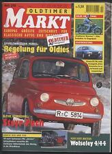 Oldtimer Markt 2/1996 Citroen CX Horch 830 930 NSU Steyr Puch Wolseley Ardie