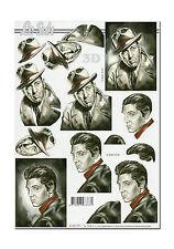 LeSuh 3D Motiv Etappenbogen 3D Bild Motivbogen James Dean / Elvis Presley (225)