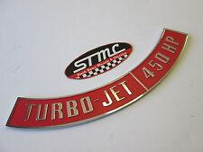 67 68 69 70 Camaro Nova Impala chrome steel 454 450HP air cleaner decal emblem