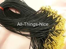 """Seda Mix 18 +2 """"Cadena Collar Negro Cuerdas De Oro Plateado resultados Colgante Cable De 20"""