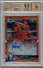 2018 BOWMAN CHROME DARICK HALL ORANGE SHIMMER REFRACTOR RC AUTO /25 BGS 9.5