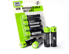 AA Cell Battery Rechargeable Li-ion Polymer 400mAh Batteries USB Travel Shaver