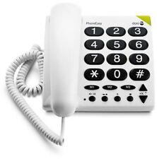 Doro PhoneEasy 311 schnurgebundenes gross Tasten Telefon Seniorentelefon wie NEU