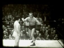 16mm Film OLD WRESTLING MATCHES   Wild Kicking, Punching, Wrestling  8 Minutes