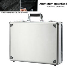 Aluminum Hard Briefcase Shockproof Laptop Business Carrying Case with FilePocket