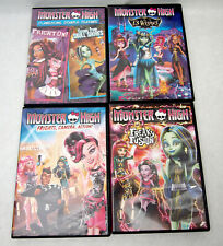 Lot of 4 Monster High DVDs VGUC 13 Wishes,Freaky Fusion,Frights Camera Action +