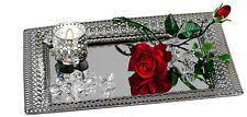 Decorativo Spiegeltablett Romántico Espejo de Mesa Metal / Cristal Plata 22x32