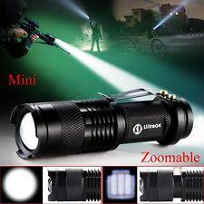 Hot 600 lumen Focus Changeable CREE Q5 LED 7 W Watt Flashlight torch AA/14500