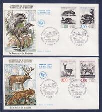 enveloppe 1er jour   faune animaux  Buffon  Paris       1988