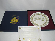 """""""MICKEY MOUSE"""" DISNEYLAND 50TH ANNIVERSARY PLATE #1 - MICKEY MOUSE CLUB - MIB"""