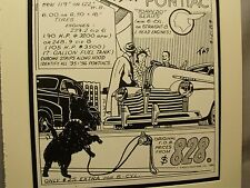 1941 Pontiac Torpedo   Auto Pen Ink Hand Drawn  Poster Automotive Museum