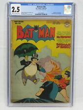 New ListingDc Comics Batman #38 Cgc 2.5 Penguin Cover Jim Mooney Art Golden Age 1946-47