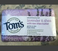 TOM'S OF MAINE~Natural Beauty Bar Soap~Lavender & Shea~5 oz Bar