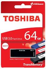 TOSHIBA 64gb Premium USB Flash drive Memory stick 3.0 THN U302K0640MF RRP £45
