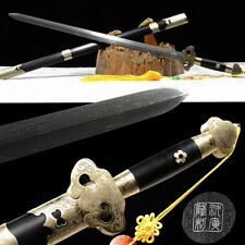 Traditional Hand Forged Refining pattern steel Ghost grain Sword Sharp blade#085