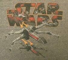 Star Wars X-wing T-shirt XL extra large gray gallactic battle comic con