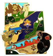 "SPORT PIN/PINS-OLYMPIA Salt Lake City 2002 ""Golf"" puzzle a 3 Pin [4029c]"