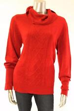 New Women's #1860 Karen Scott Red Textured Turtle Neck Sweater Sz Medium