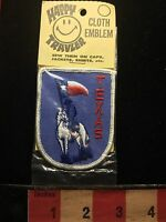 Vintage In Package Texas Jacket Souvenir Patch White Horse Lone Star Flag 71F2