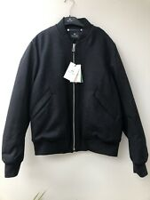 Designer PAUL SMITH Wool Cashmere Grey Padded BOMBER JACKET Size L BNWT RRP £400