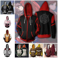 RWBY Hoodie 3D Printed Sweatshirt Zipper Hooded Men Women Casual Coat Jacket Top
