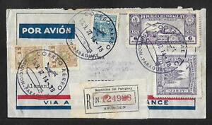 PARAGUAY TO GERMANY ZEPPELIN CDS AIR MAIL COVER 1937