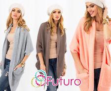 Amazing Womens Cardigan Italian Style Jumper Kimono Sleeve Size 10-12 FAS15