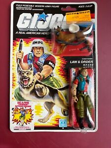 "1987 HASBRO GI JOE LAW & ORDER RE-SEALED CARDED 3 3/4"" COMPLETE Action Figure"